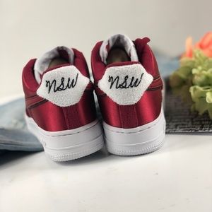 867fca86f5cd Nike Shoes - Nike Air Force 1  07 SE satin red shoes sneakers